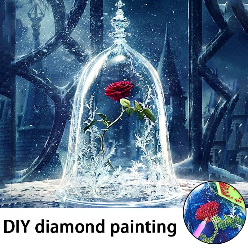 DIY 5D Diamond Painting Cross Stitch Diamond Embroidery Crystals Diamond Mosaic Picture flowers Round Rhinestones Kits 30 30 CM in Diamond Painting Cross Stitch from Home Garden