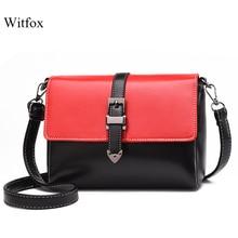 witfox bags for women 2019 Panelled crossbody messenger hasp zipper cell phone packet street wear shopping gift package