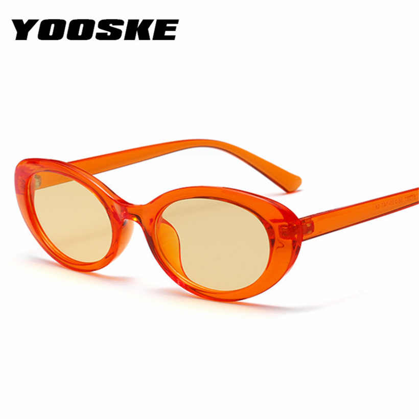 d862f80c84f YOOSKE Women Vintage Oval Fashion Sunglasses Candy colors Sunglass Men  Retro Brand Designer Yellow Glssess