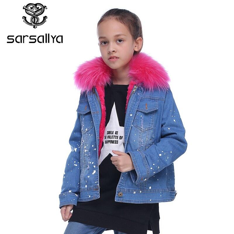 Sarsallya реального кролика рекс Мех куртка для мальчиков куртки для девочек зимняя куртка для мальчиков Детское пальто парка ветровка для маль