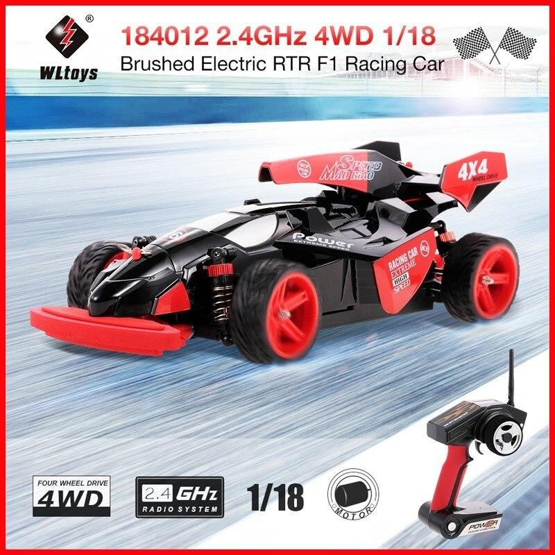 WLtoys 184012 2.4 GHz Brossé RC Voiture 4WD 1/18 45 KM/H Électrique RTR F1 voiture de course RC Mdeo Véhicule télécommande Jouets