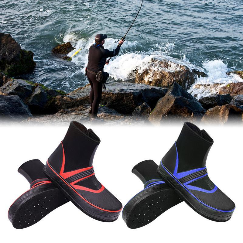 1 Pair Fishing Shoes Sea Water Nail Shoes Rain Boots Non slip Felt Bottom Fishing Shoes