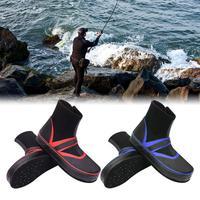 1 Pair Fishing Shoes Sea Water Nail Shoes Rain Boots Non slip Felt Bottom Fishing Shoes Gear Men Women Size 38/39/40/41/42/43/44