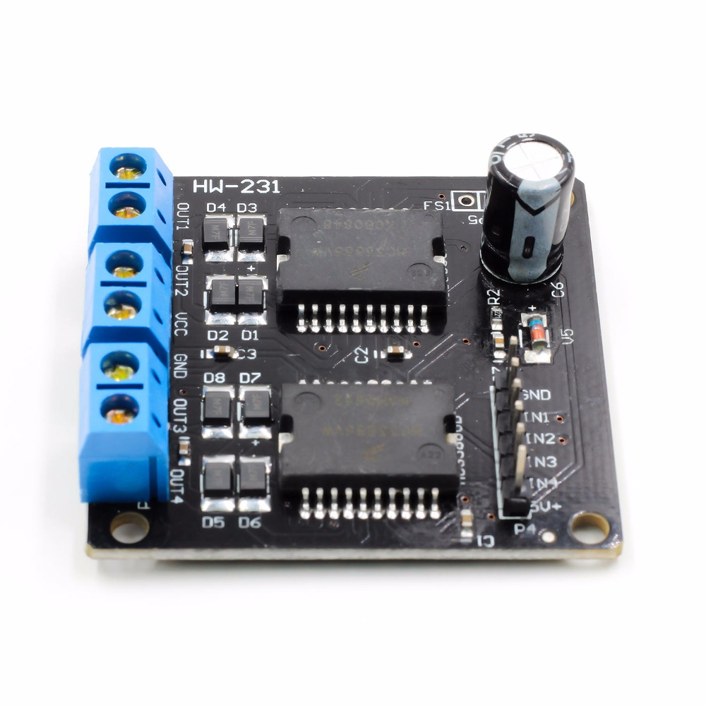 New Dual MC33886 Motor Driver Module 5A for Robot Smart car 5 12V-in Motor Driver from Home Improvement