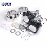 Car Styling Mini 2.5 inches WST HID Bi xenon Headlight Projector Lens Retrofit DIY H7 H4 Headlamp Lenses, Use H1 Bulbs