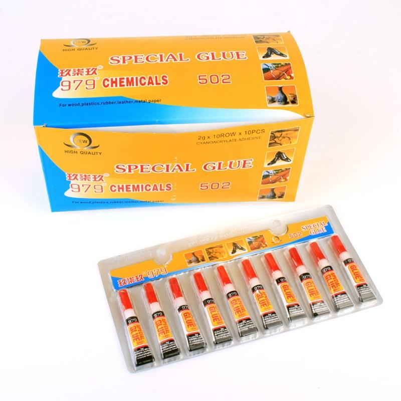 5PCS/Lot 2g 502 Glue Multipurpose Epoxy Adhesives Super Glue 502 Black Liquid Glues For Diy Crafts Glass Phone Case Metal Fabric