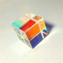 Prism Six-Sided Bright Light Combine Cube Prism 18*18*18mm Stained Glass Beam Splitting Prism Optical Experiment Instrument недорого