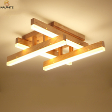 Modern Wood LED Ceiling Light Indoor Living Room For Bedroom Lighting Luminaire Home Decor Lamparas