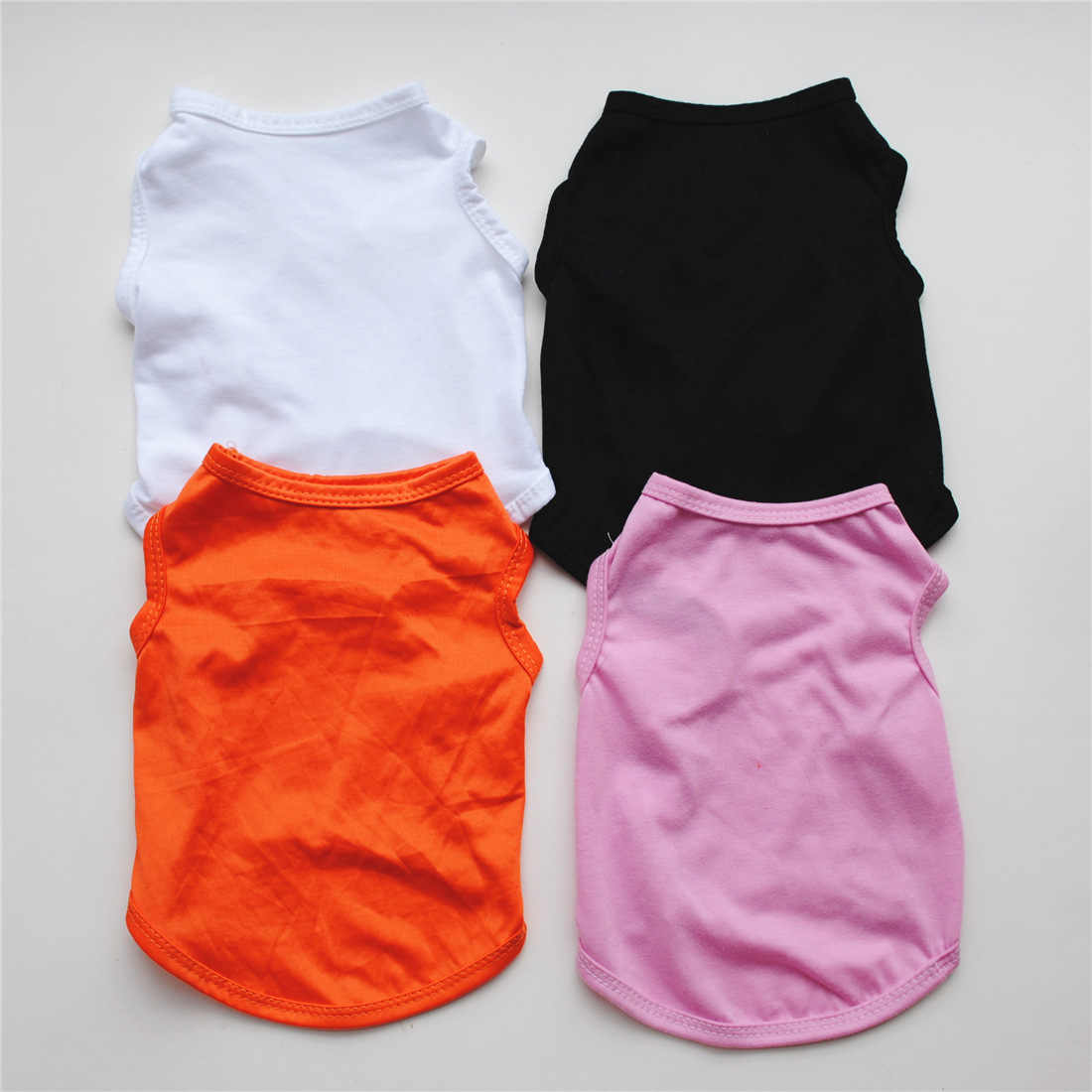 Одноцветное цвет собака рубашка дешевая одежда для собак для маленьких товары собак лето Чихуахуа футболка милый щенок жилет Йоркширский терьер