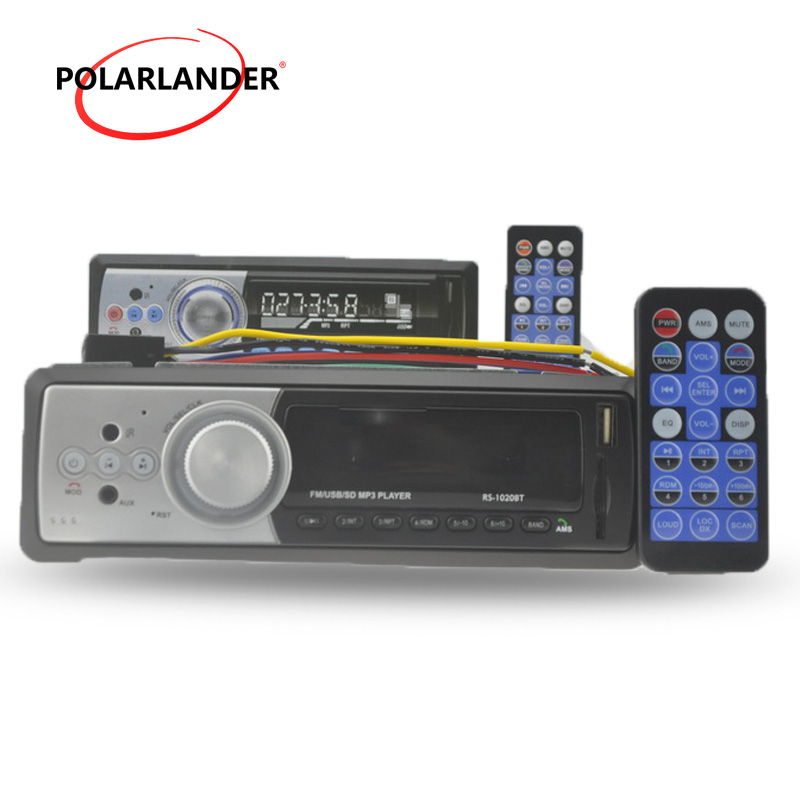 FM Receiver Aux Input 1 DIN Car Audio Stereo In Dash MP3 MMC WMA Radio Player Bluetooth USB/SD/MMC Card Reader Remote Control