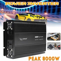 Power Inverter P eak 8000W 4000W DC 12V To AC 220V /110V Car Adapter CPU Charger Square Wave Modified Pure Sine with Cooling fan