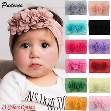 1749dc9b7cb14 2019 Brand Toddler Girls Kid Baby Bow Hairband Headband Cute 3D Flower  Stretch Turban Flower Head