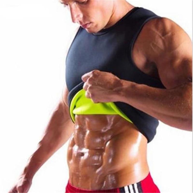 Men Gym Neoprene Vest Sauna Ultra thin Sweat Shirt Body Shaper slimming   Tank     Tops