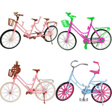3 Style Pink Green Plastic Bicycle Bike Doll Accessories Outdoor Sports Toy For 29CM Doll Dollhouse Kids Pretend Play Gift Set все цены