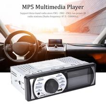 Radio con reproductor MP5 para coche, Radio con reproductor MP5, estéreo, 1DIN, HD, 3,0 pulgadas, 12V, compatible con DAB + FM, USB/TF, AUX, Bluetooth