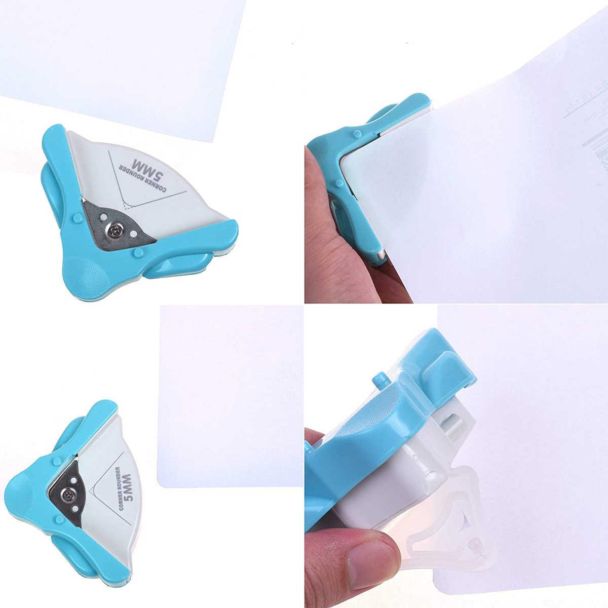 تقليم خرامة ورق بطاقة الصورة كرتون القاطع 5mm مستدير جولة الزاوية أداة كرافت