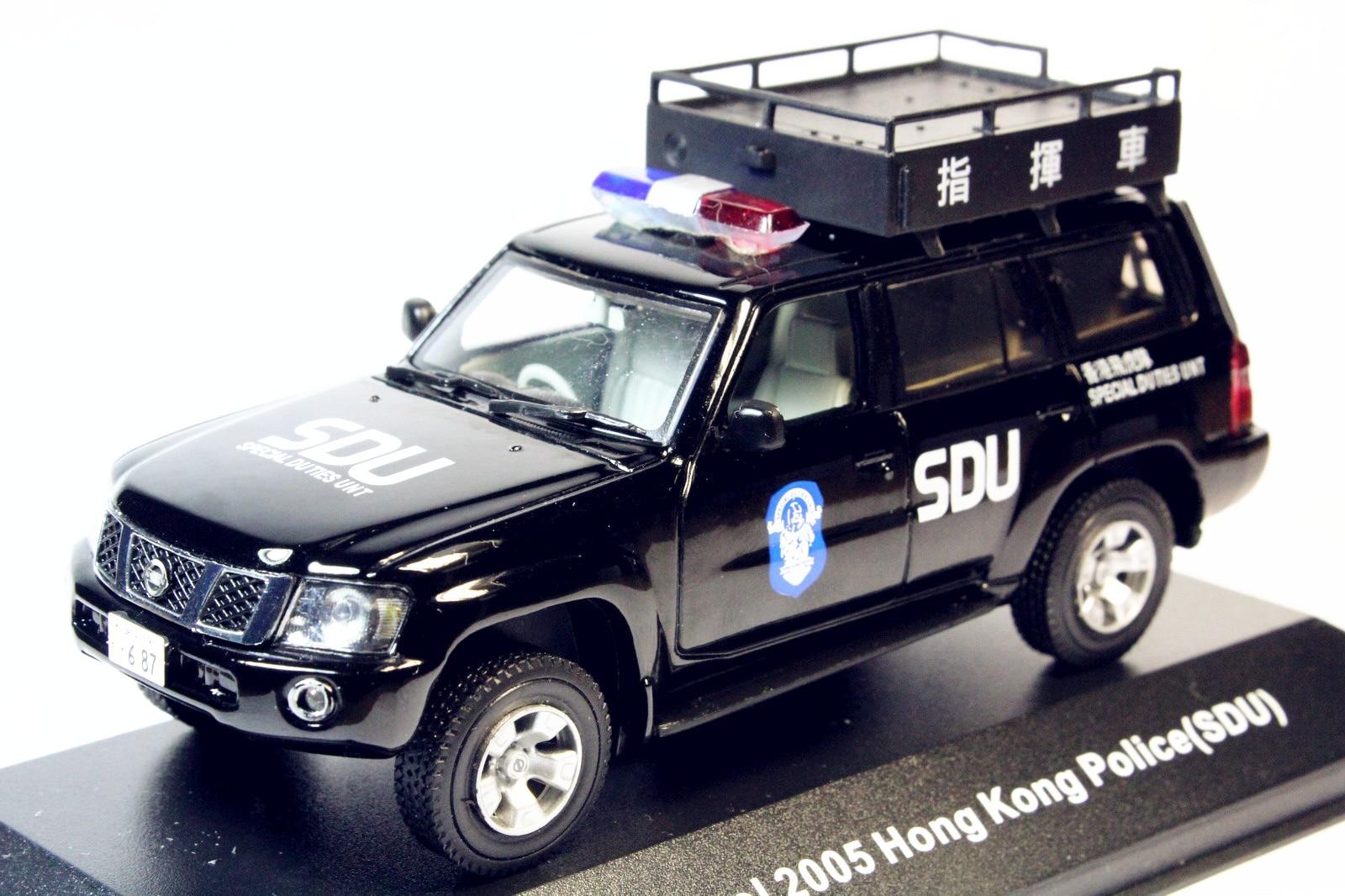 J-collection 1/43 Nissan Patrol 2005(Y61) Hong Kong Police(SDU) Command Car