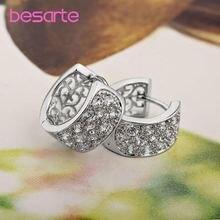 Роскошные золотые серьги кольца для женщин улицы циркониевые
