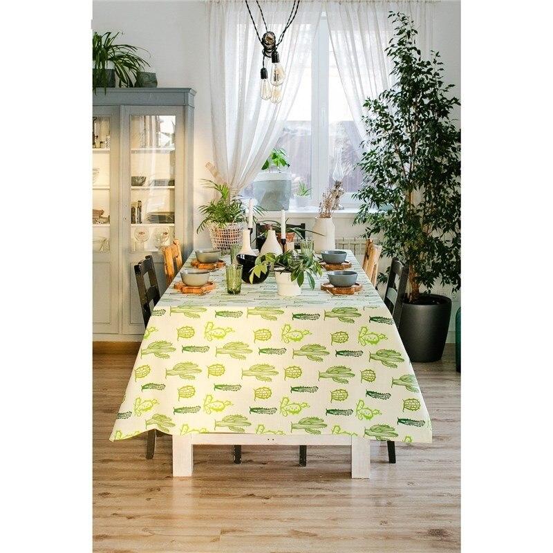 Tablecloth Ethel Cacti, 150 × 220 cm, репс, pl. 130g/m², 100% cotton ofk 130g