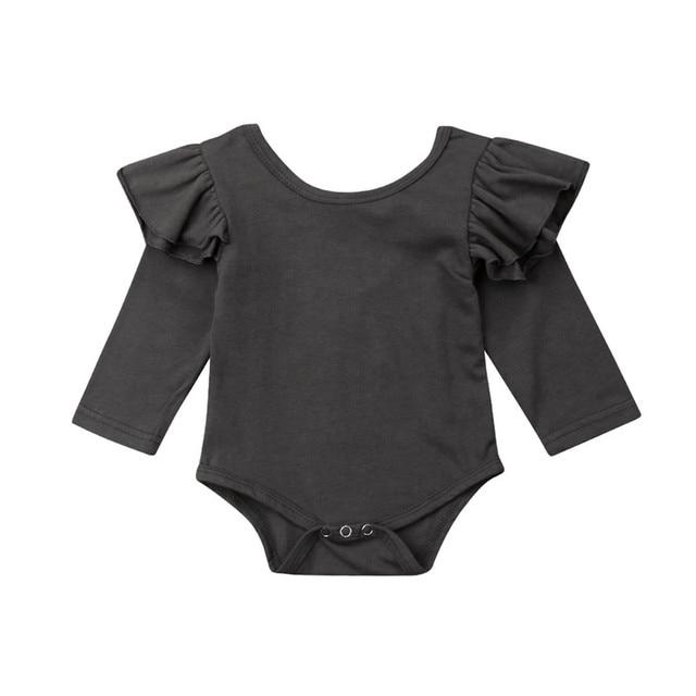 5e6b3741a Aliexpress.com   Buy 3 to 18Months Newborn Kids Baby Girl Fly Sleeve ...