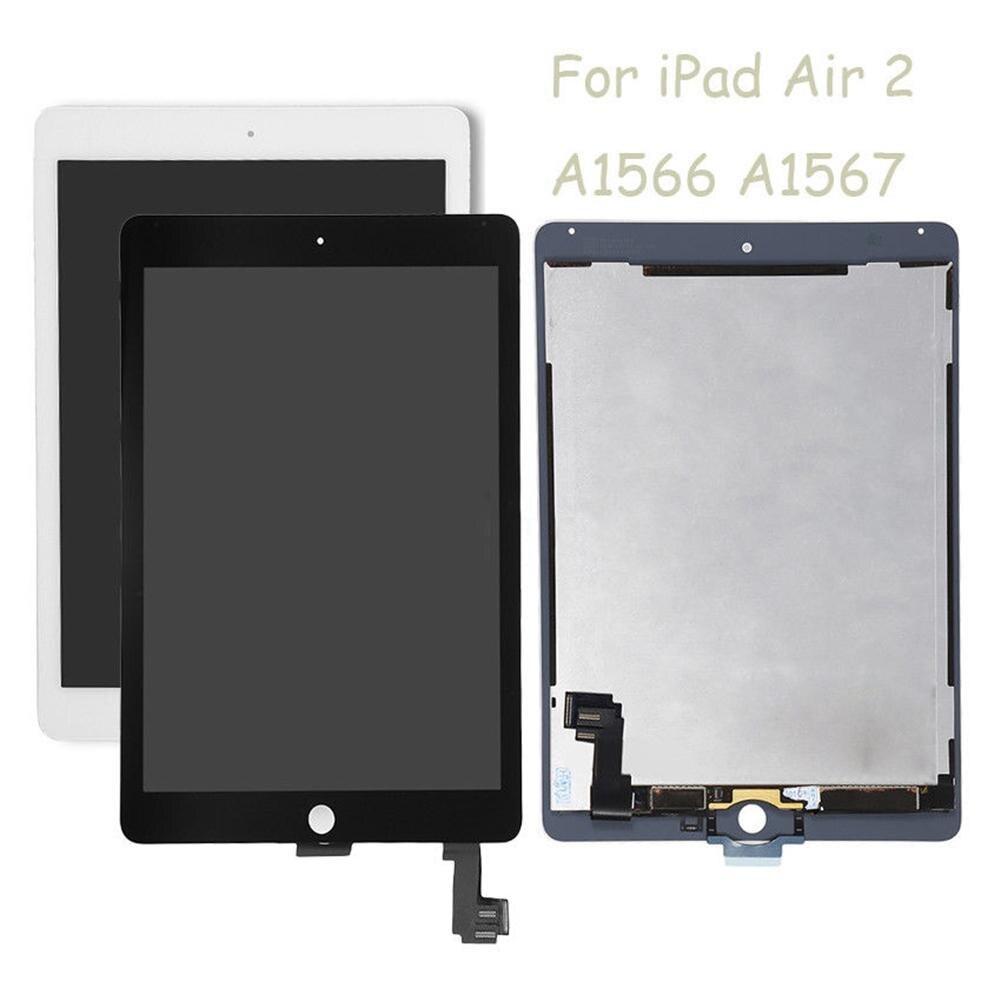 Оригинальный Заменить ЖК дисплей сенсорный экран планшета Ассамблеи для iPad Air 2 A1566 A1567