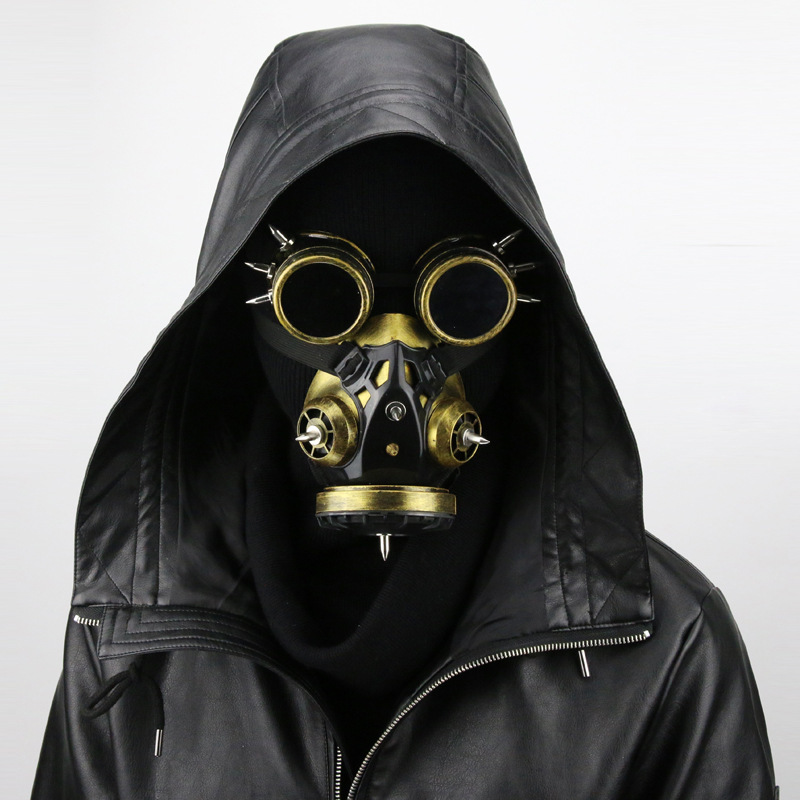 Cuir synthétique polyuréthane noir Costume masques adulte peste médecin Cosplay Rock gothique Steampunk oiseau masque Halloween carnaval Anime accessoires