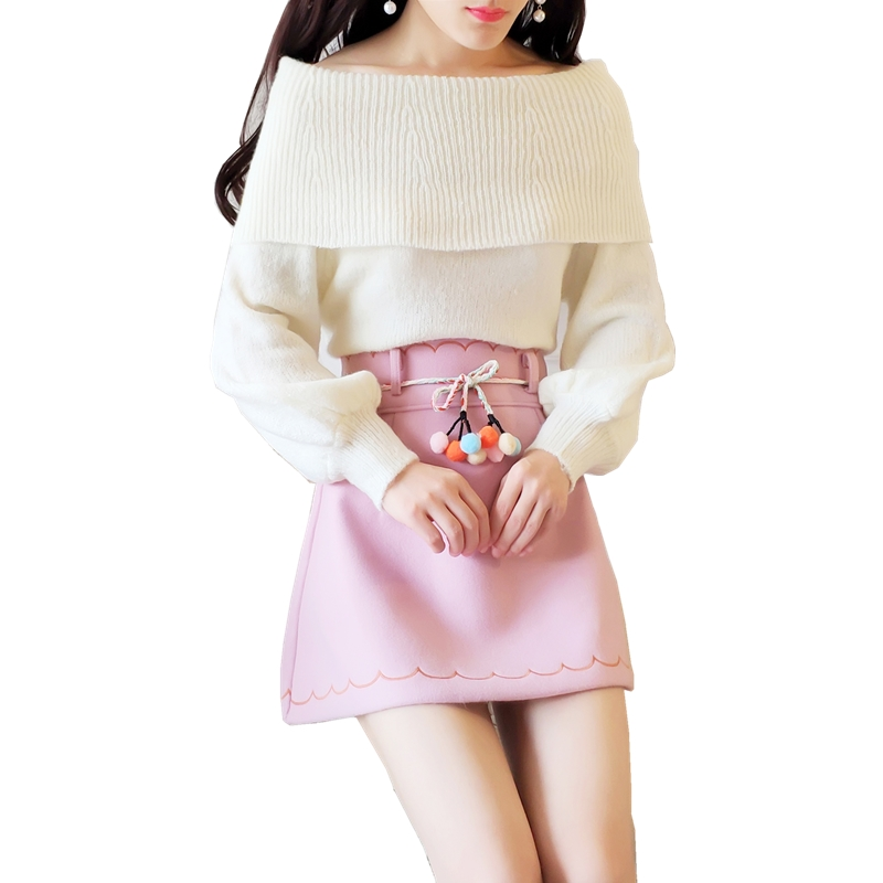 Sweater Skirt Suit New Winter Two-Piece Clothing Set Women Matching Outfits Knitted Twinset Fresh Students Top Vestido Pullover