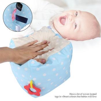 Baby Soft Sensory Cube Cartoon Square Toy Tags Ribbons Sensory Toy Gift Magic Cube Rattles защитный детский шлем