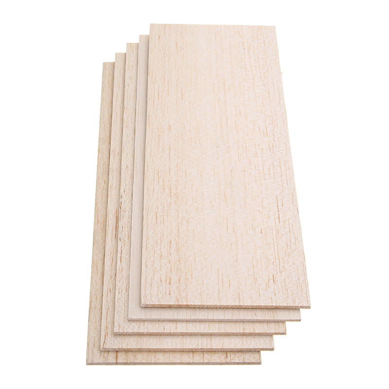 5pcs 310x100mm Balsa Wood Sheet 7 Thickness Light Wooden Plate For DIY Airplane Boat House Ship Model