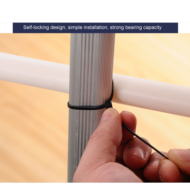 100 pcs milk cable wire white black home improvement nylon cable tie  electrical equipments supplies wiring accessories-in adhesive fastener tape  from home