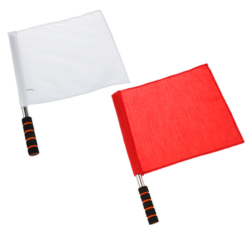 2 Pieces Referee Football Soccer Hocky Lineman Flag Track and Field Flags Competition Flag 14.6x12.9 inch Durable Sturdy