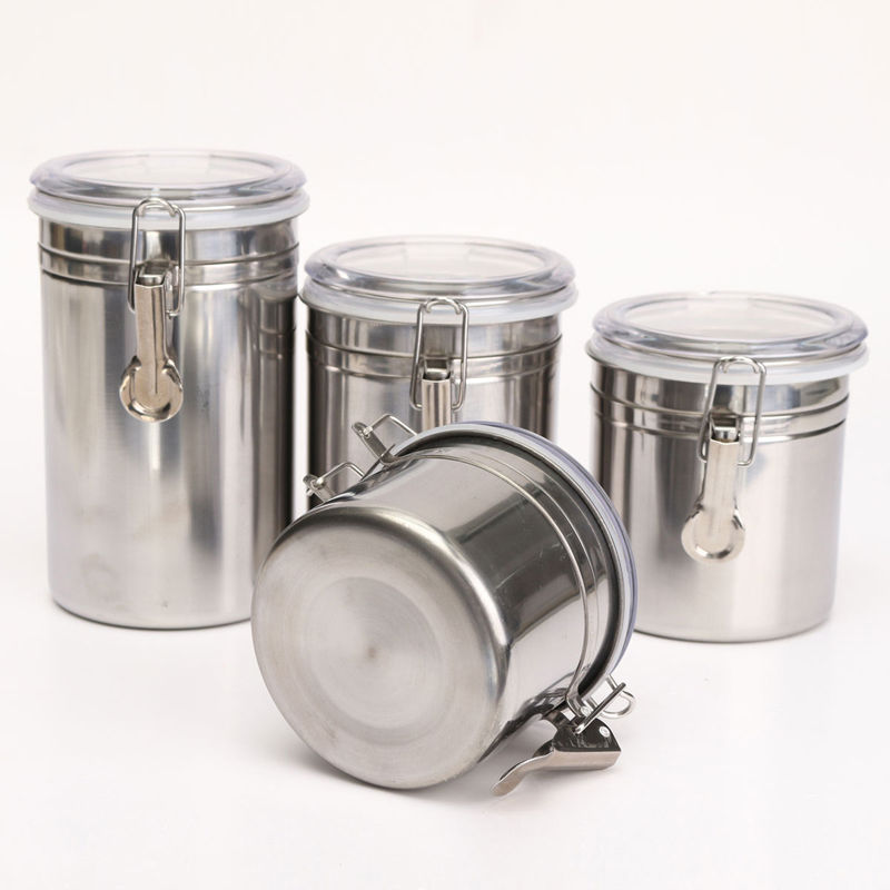 New Stainless Steel Airtight Sealed Canister Coffee Flour