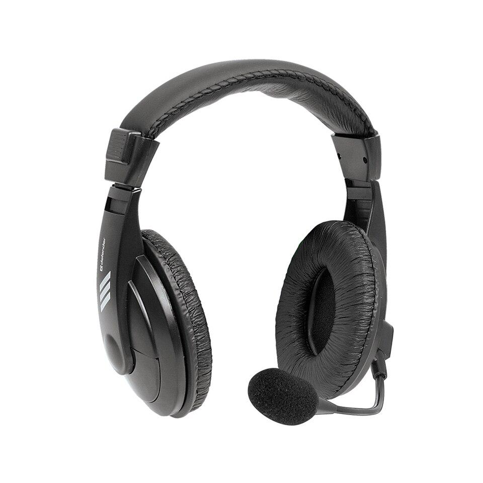 Купить со скидкой Компьютерная гарнитура DEFENDER Gryphon 750U USB, черный, кабель 1.8м