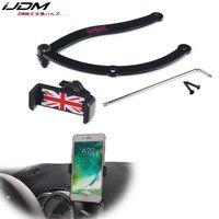 Otomatik akıllı cep telefonu Tutucu Dönebilen Klip Kat Montaj Tutucu mini cooper Için F55 F56 F54 R55 R6 R60 Countryman Clubman|Araba Çıkartmaları|Otomobiller ve Motosikletler -