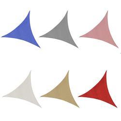 4*4*4 metros UV impermeable triángulos Sol al aire libre sombra navegar Material de protección del medio ambiente de mal gusto de sombreado de tela