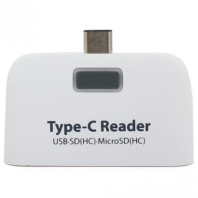 4 In1 Abs Usb 3.1 Typ C Usb-c Tf Micro-sd Otg Kartenleser Für Macbook Telefon Tablet Elegant Und Anmutig