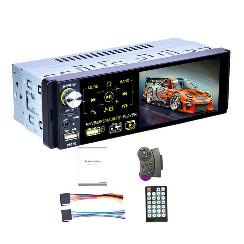 Autoradio 1din Autoradio 4.1 pouces écran tactile capacitif Audio caméra de recul infrarouge 7 couleurs rétro-éclairage AM/FM/RDS Radio