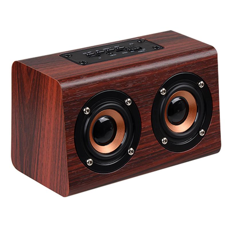 Image 2 - Portable Player Retro Wireless Bluetooth Speakers Handcrafted Wooden Stereo Hd Sounds Surround Devices For Travel Home Outdoor-in Portable Speakers from Consumer Electronics