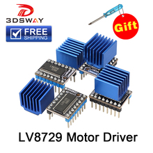 3DSWAY 3D Printer Parts 4pcs/lot MKS LV8729 Stepper Motor Driver 4-layer PCB Ultra Quiet Module Compatible with Lerdge