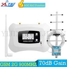ATNJ 900 МГц 2G gsm-репитер 900 MHz Мобильный усилитель сигнала GSM сотовый ретранслятор усилитель + 2G антенны Яги с 15 м кабеля