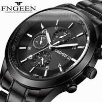 LAGMEEY Men Watches Super Thin Black Stainless Steel Band Men's Quartz Watch Male Waterproof Sports Wristwatch Clock montre