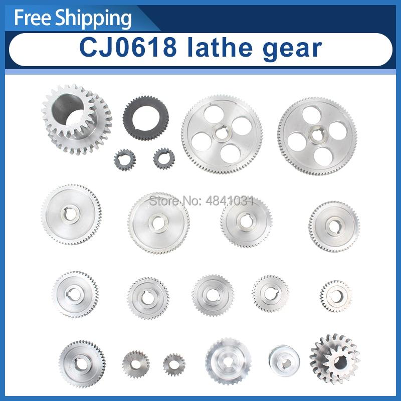 CJ0618 lathe metal gear spindle gear metric metal gear inch full gear kit