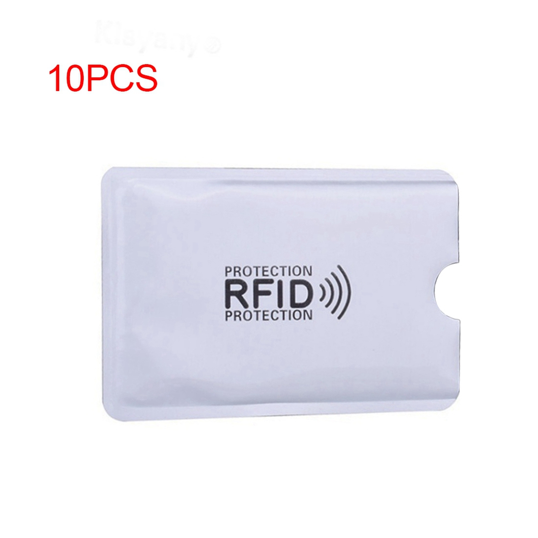 10pcs Aluminum Foil Anti-degaussing Card Cover RFID Shielding Bag NFC Credit Card Anti-theft Brush ID Card Protector