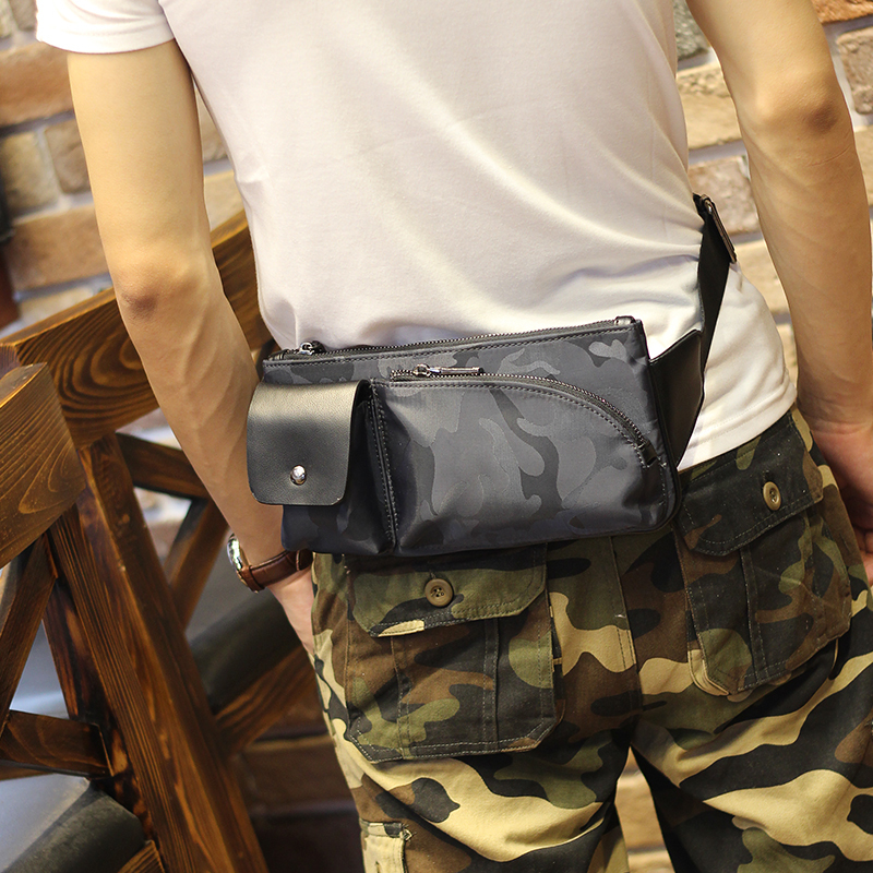New Fashion Military Camouflage Waist Bag Men Army Pack Casual Mobile Phone Belt Pouch Bag Travel Waist Pack Small Daypack