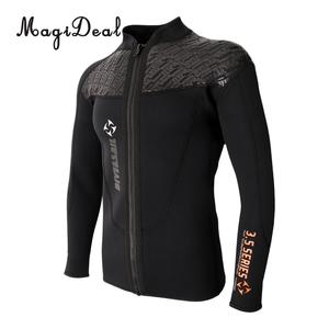 Image 2 - Phenovo 3MM Warm Neoprene Long Sleeve Wetsuit for Men Front Zipper Jacket Top Surf Scuba Diving Swimming Snorkeling Surfing Top