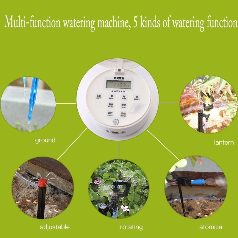 Solar Energy Intelligent Timing Garden Automatic Watering Device Plant Drip Water Pump Sprinkler Micro System Irrigation Tool