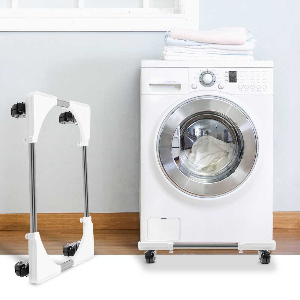55x55x7cm Heavy Object Mover Color : A WZ Washing Machine Storage Shelf Removable Height Bracket for Furniture Refrigerator Washing Machine Heavier Items