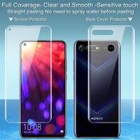 V20 2 PCS Completa cobertura para Huawei Honra protetor de Tela e tampa Traseira protector Filme Imak Todos de Pé de Hidrogel para honra V20