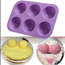 Полушаровая сферическая силиконовая форма для торта Маффин шоколадное печенье Форма для выпечки Декор десерт Инструменты Пудинг Форма