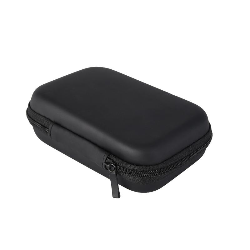 Image 2 - Portable Protector Cover Earphone Charging Cable Drive Oval Style Bags Delicate Shockproof Protective Zipper Pouch Storage Box-in Earphone Accessories from Consumer Electronics